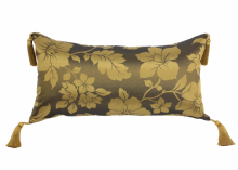"Moroccan Cushion Cover Bronze& Gold Silk Tassels 70cm x 35cm / 27.5"" x 14"" (CGC1)"